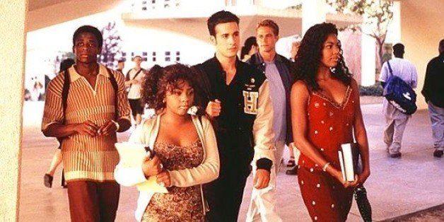 Dulé Hill, left, Lil' Kim, Freddie Prinze Jr., Paul Walker and Gabrielle