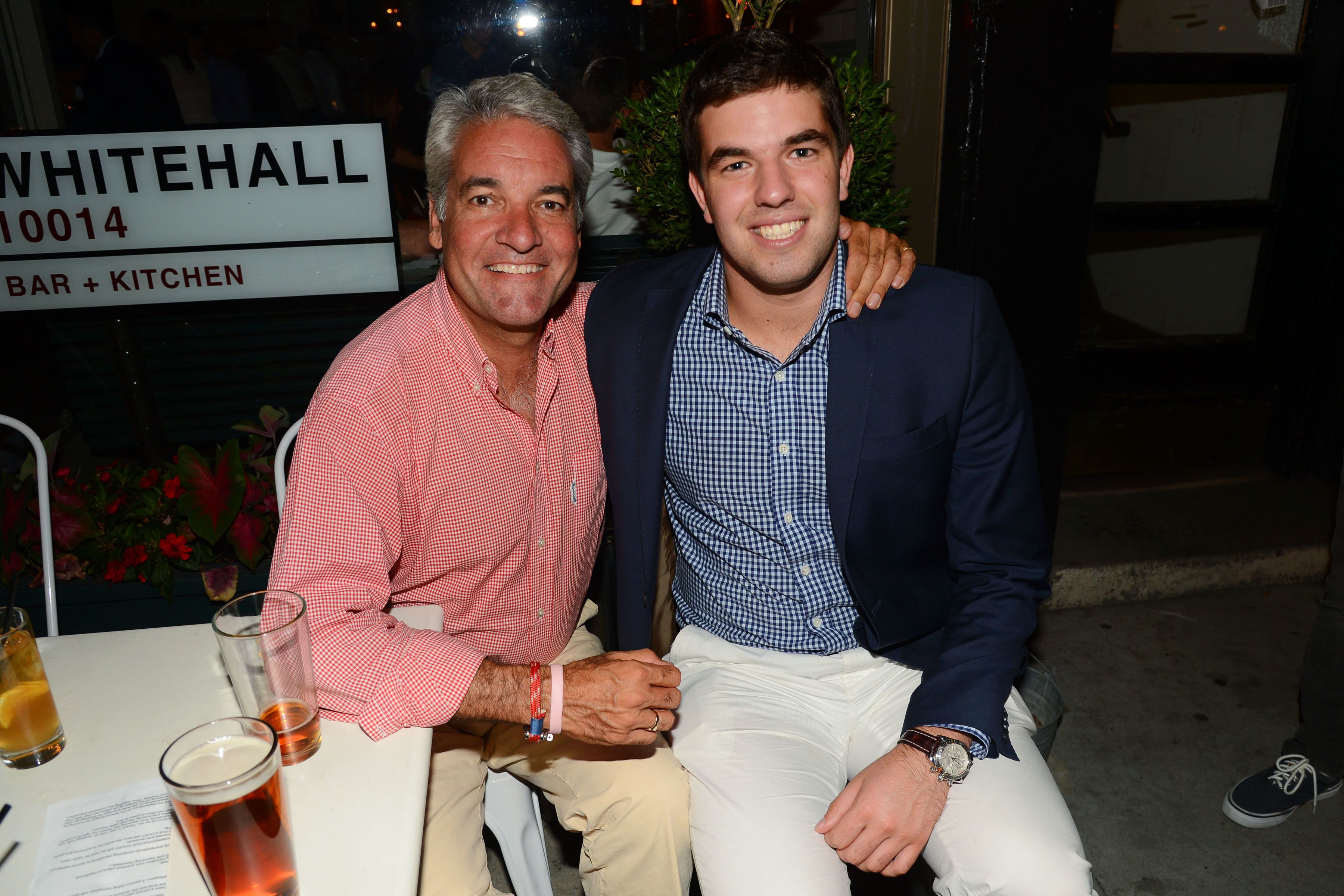 NEW YORK, NY - AUGUST 7: Andy King and Billy McFarland attend the Magnises Dinner Party at 22 Greenwich Ave on August 7, 2014 in New York City. (Photo by Patrick McMullan/Patrick McMullan via Getty Images)