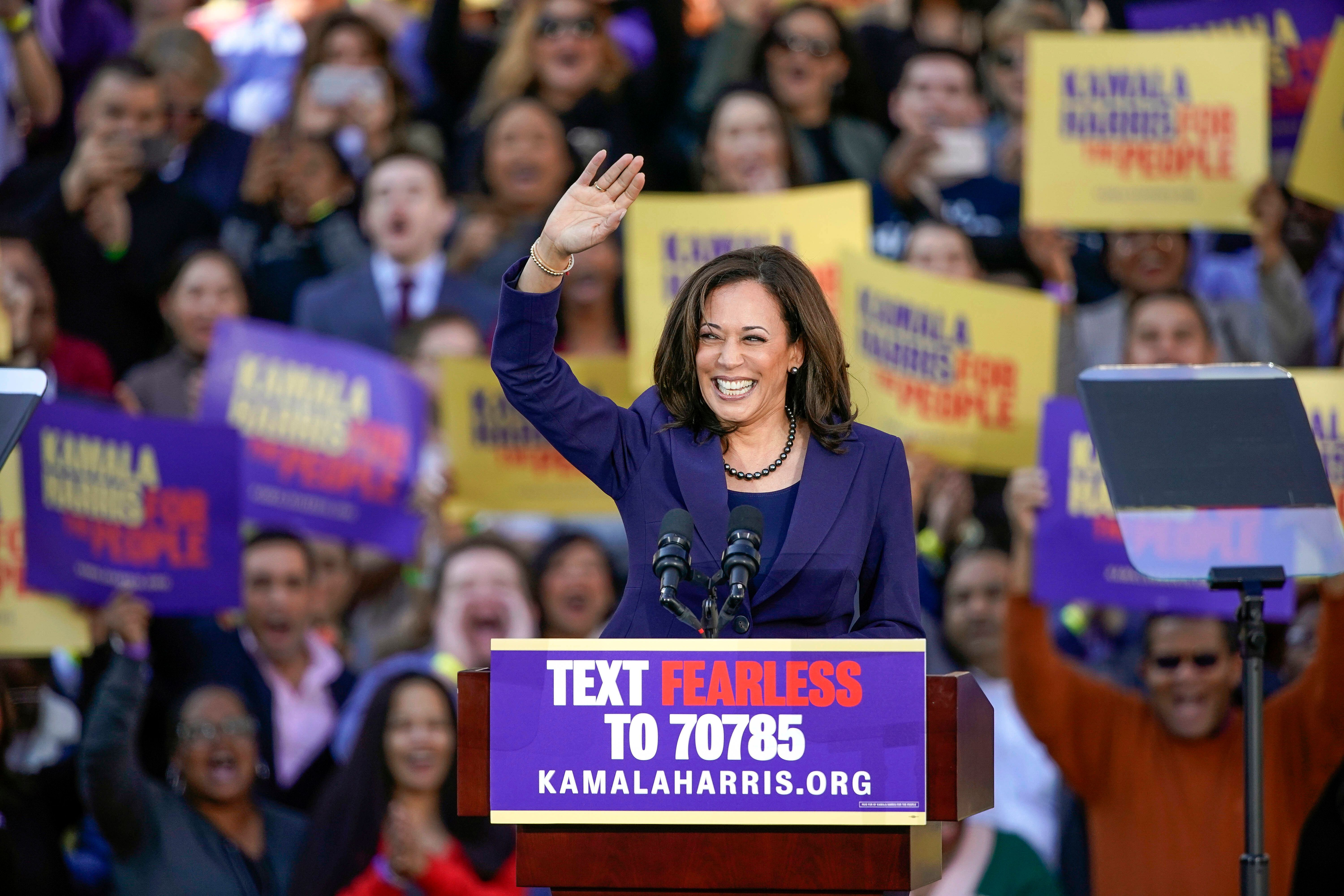 Kamala Harris kicks off campaign with Oakland rally, defends her record as a prosecutor