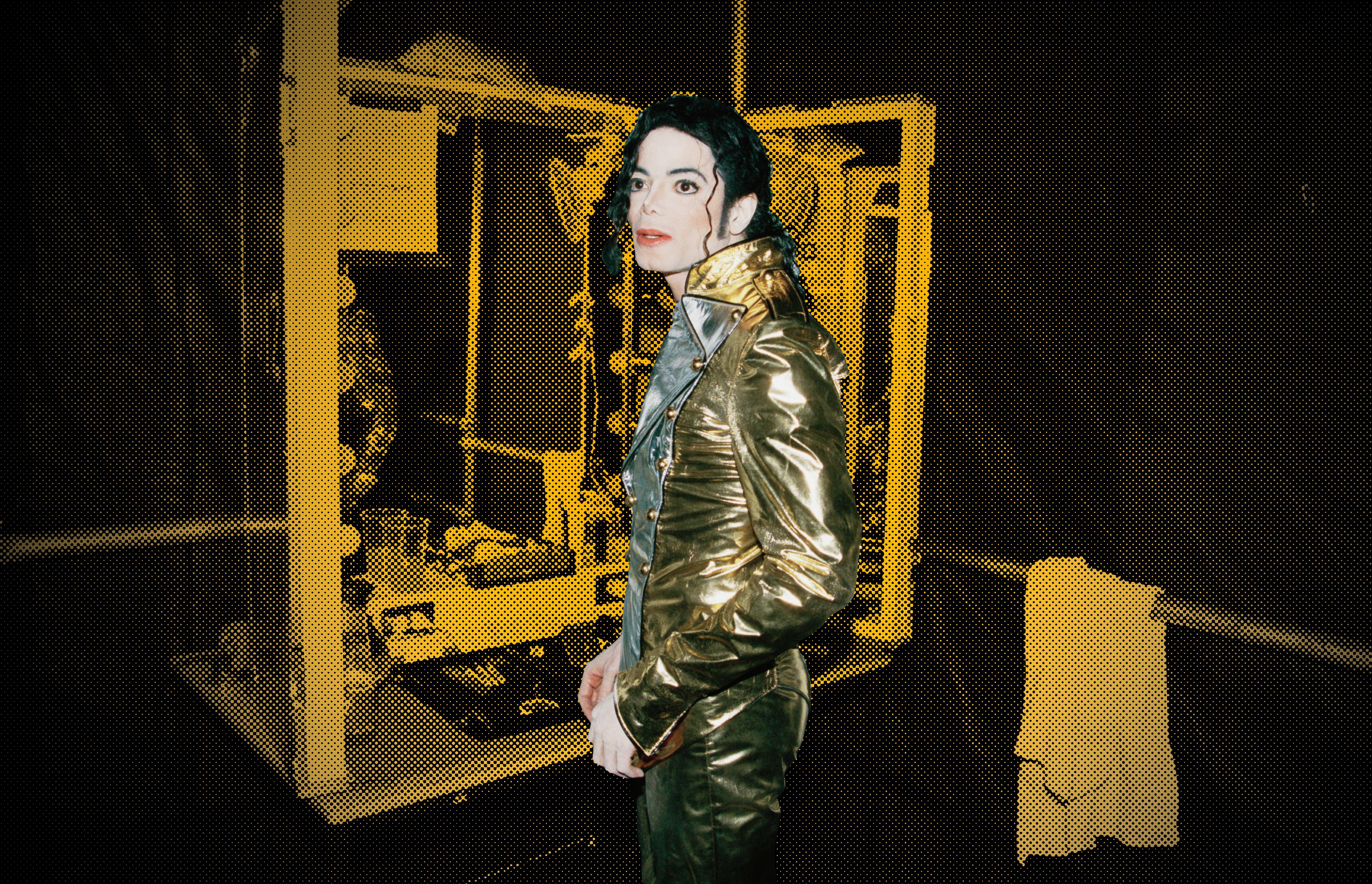Michael Jackson backstage during one of his shows in Bremen, Germany, in