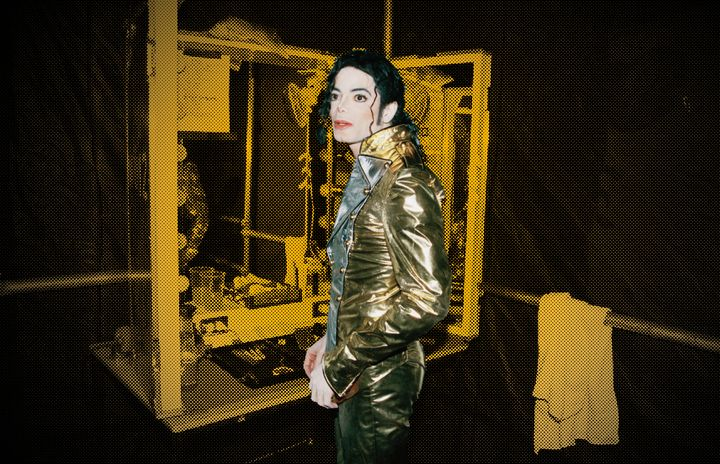 Michael Jackson backstage during one of his shows in Bremen, Germany, in 1997.