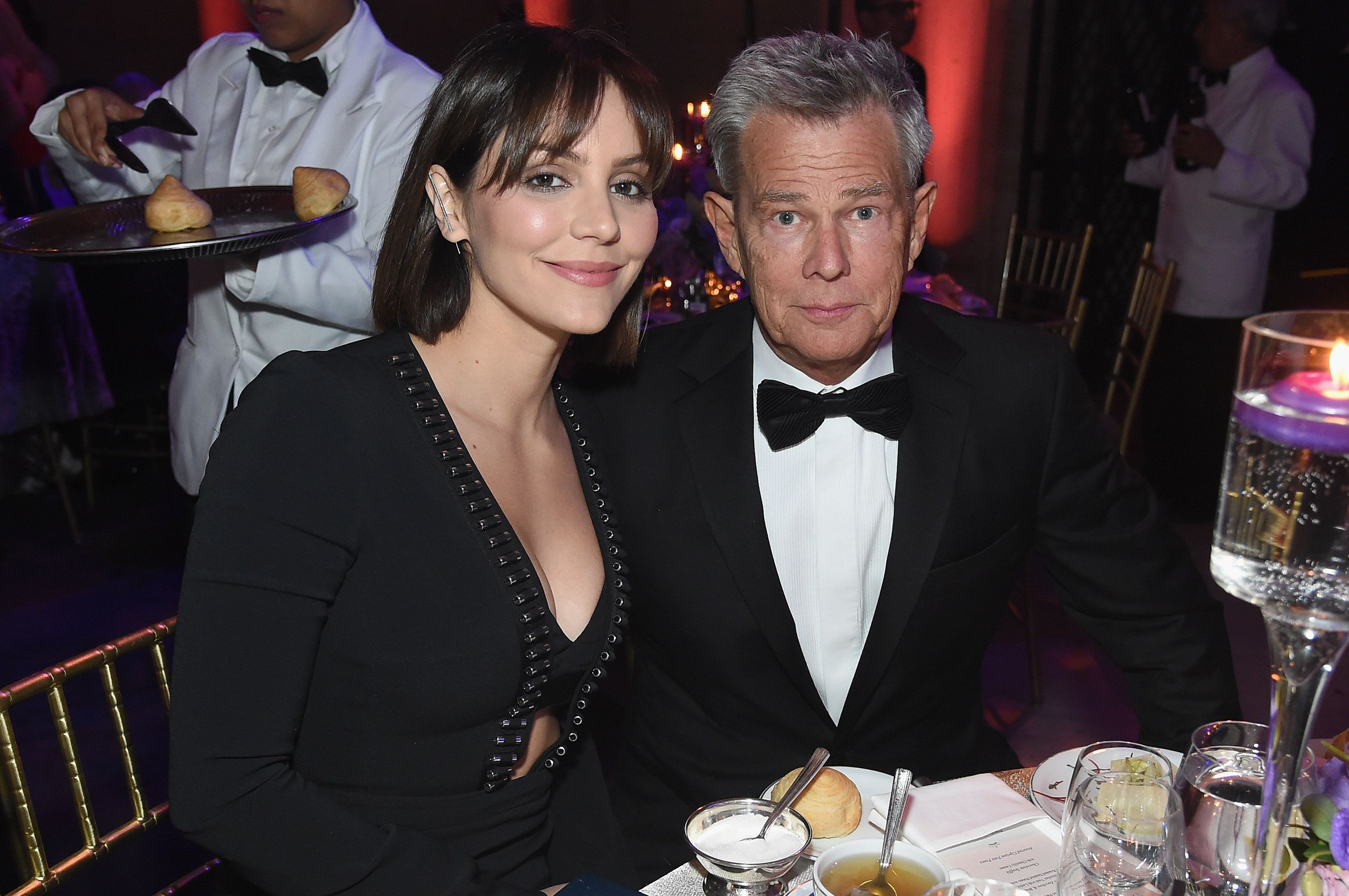 NEW YORK, NY - OCTOBER 16:  Katharine McPhee and David Foster attend the 2018 Princess Grace Awards Gala at Cipriani 25 Broadway on October 16, 2018 in New York City.  (Photo by Jamie McCarthy/Getty Images for Princess Grace Foundation-USA)