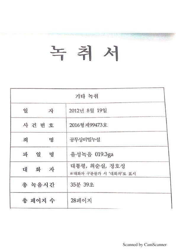 황교안 전 총리가 새누리당 대선 후보 당시 박근혜 도운 정황이