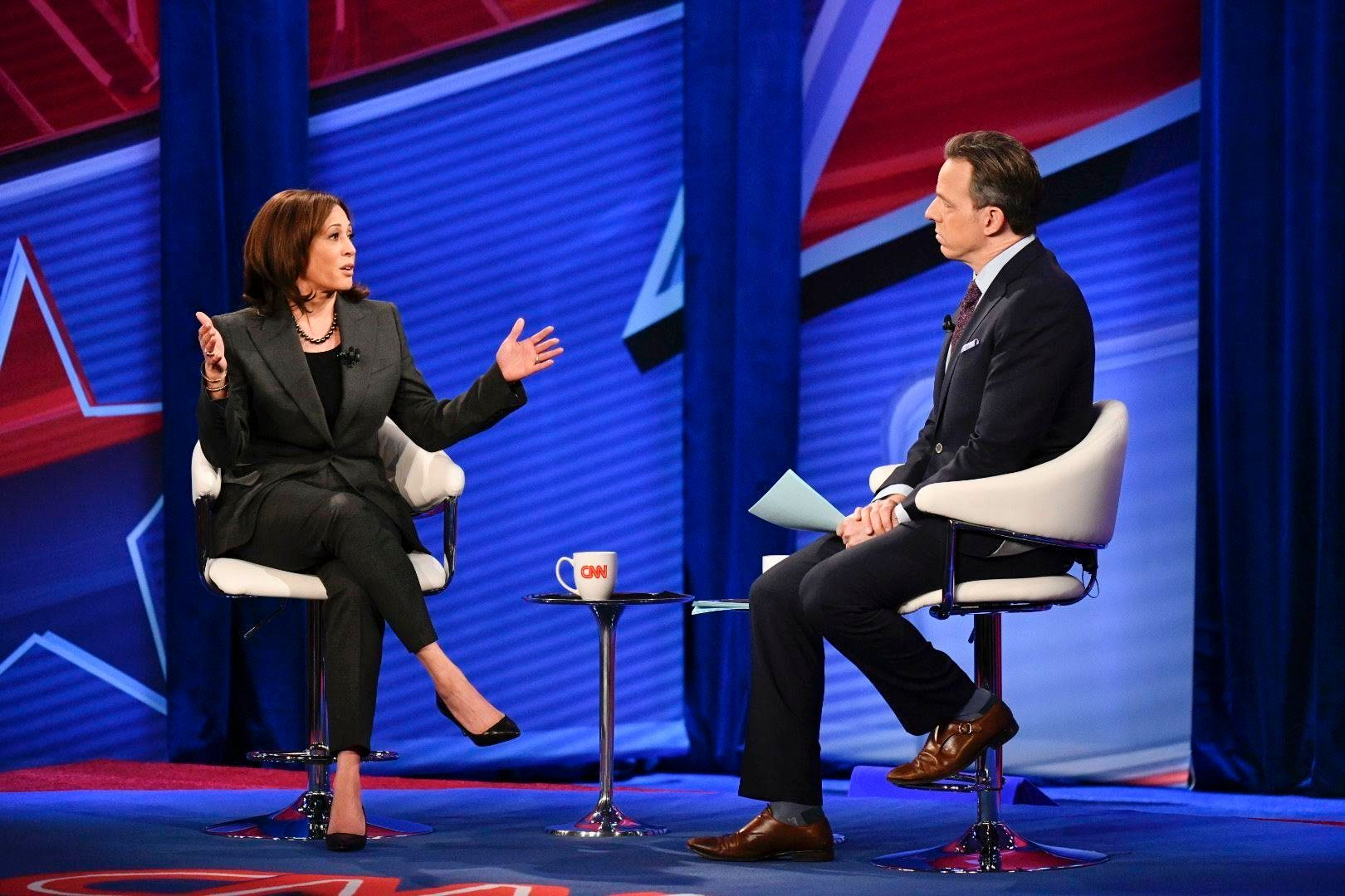CNN Town Hall Senator Kamala Harris Live from Iowa Moderated by Jake Tapper.