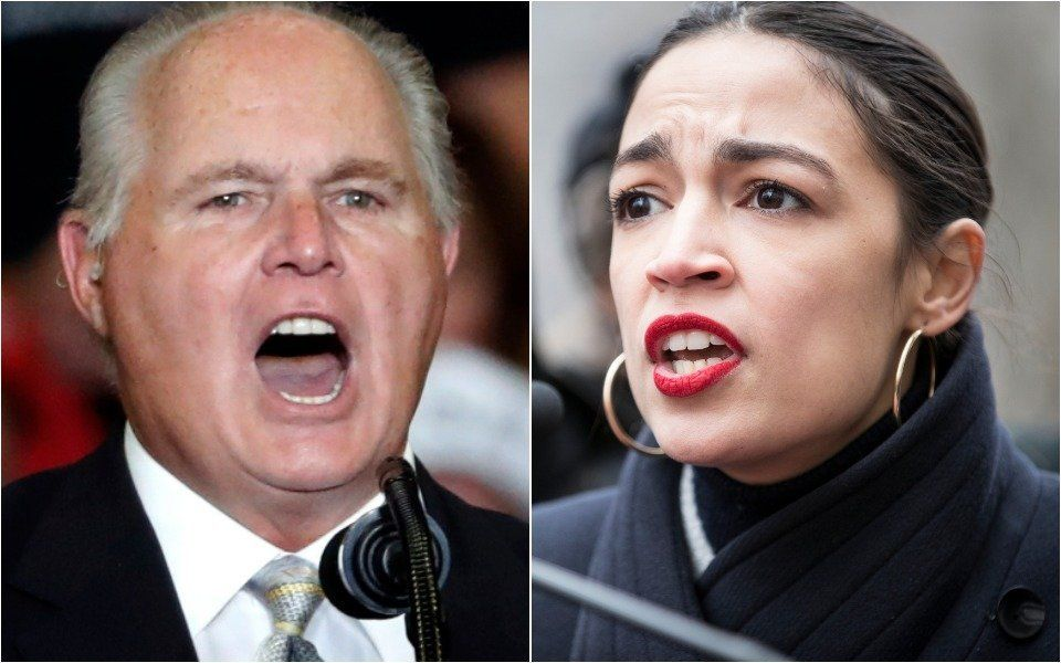 Rush Limbaugh and Alexandria Ocasio-Cortez