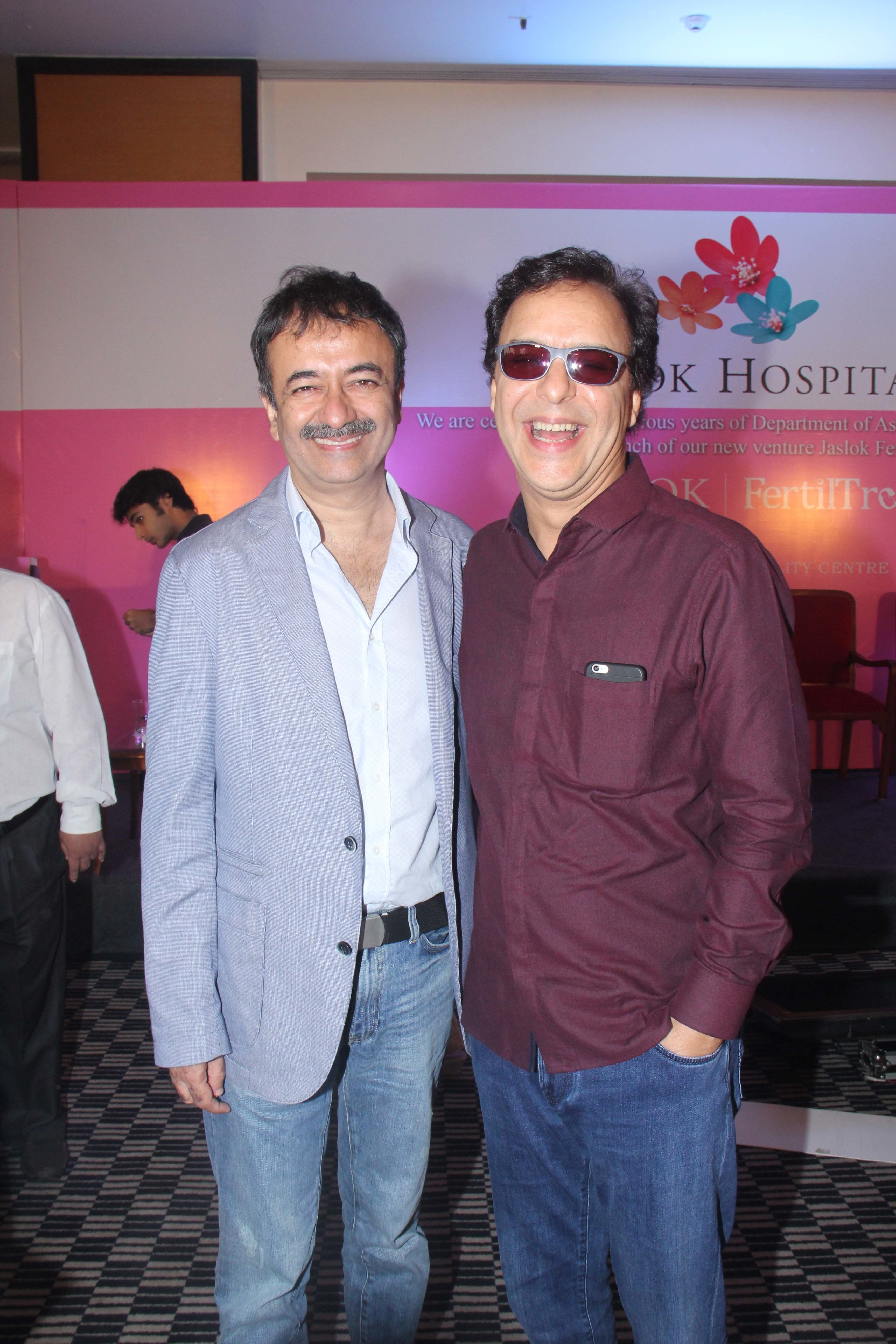 A file photo of Rajkumar Hirani (left) and Vidhu Vinod