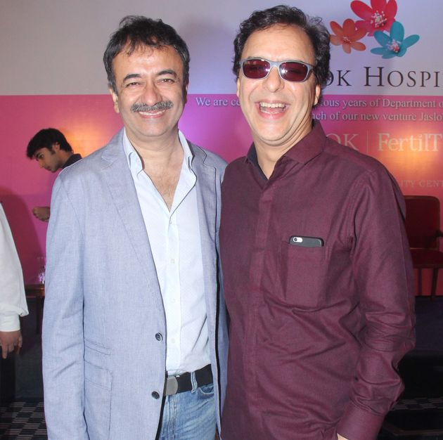 A file photo of Rajkumar Hirani (left) and Vidhu Vinod