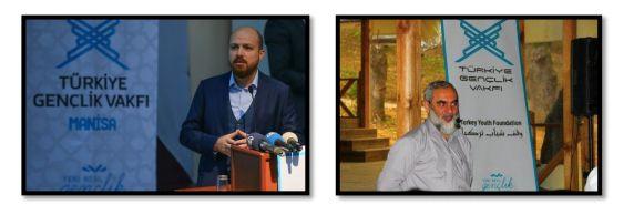Bilal Erdogan (l.) und Nurettin Yildiz (r.) auf Veranstaltungen von