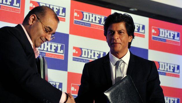 DHFL Managing Director Kapil Wadhawan (left) with actor Shah Rukh