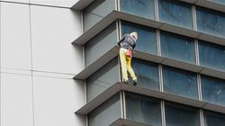 """French Spiderman"" Climbs Building In Manila, Gets"