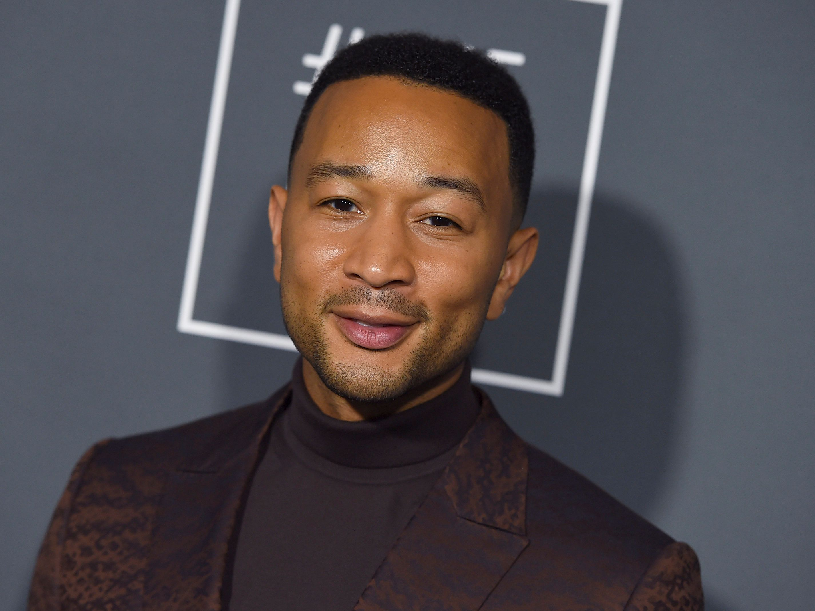 John Legend arrives at the 24th annual Critics' Choice Awards on Sunday, Jan. 13, 2019, at the Barker Hangar in Santa Monica, Calif. (Photo by Jordan Strauss/Invision/AP)
