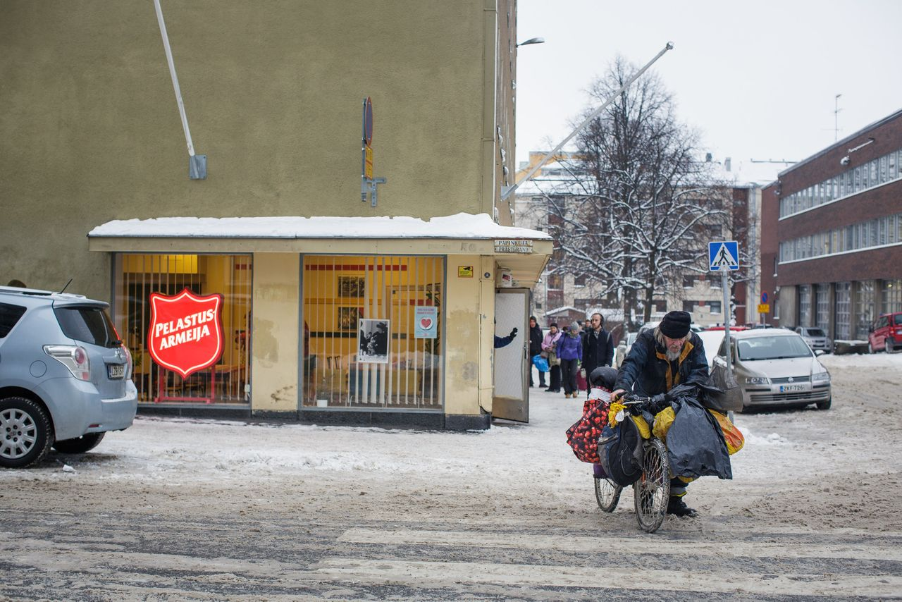 A Salvation Army building in Helsinki was converted from a 250-bed emergency shelter to an 81-apartment supported housing unit.