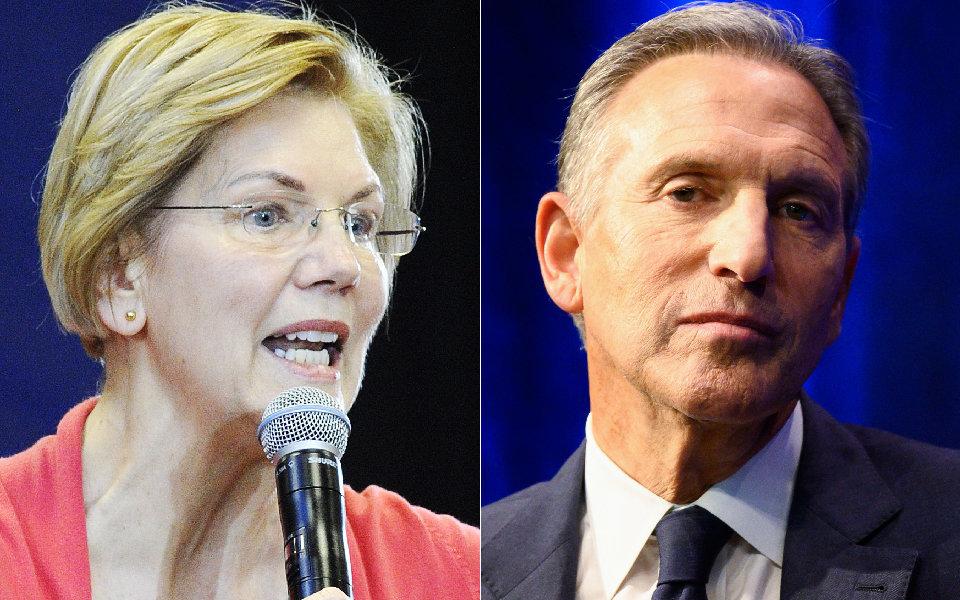 Elizabeth Warren Shreds Howard Schultz For Thinking He Can 'Buy The