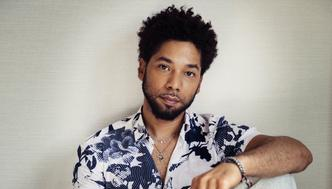 """Actor-singer Jussie Smollett, from the Fox series, """"Empire,"""" poses for a portrait on Tuesday, March 6, 2018, in New York. (Photo by Victoria Will/Invision/AP)"""