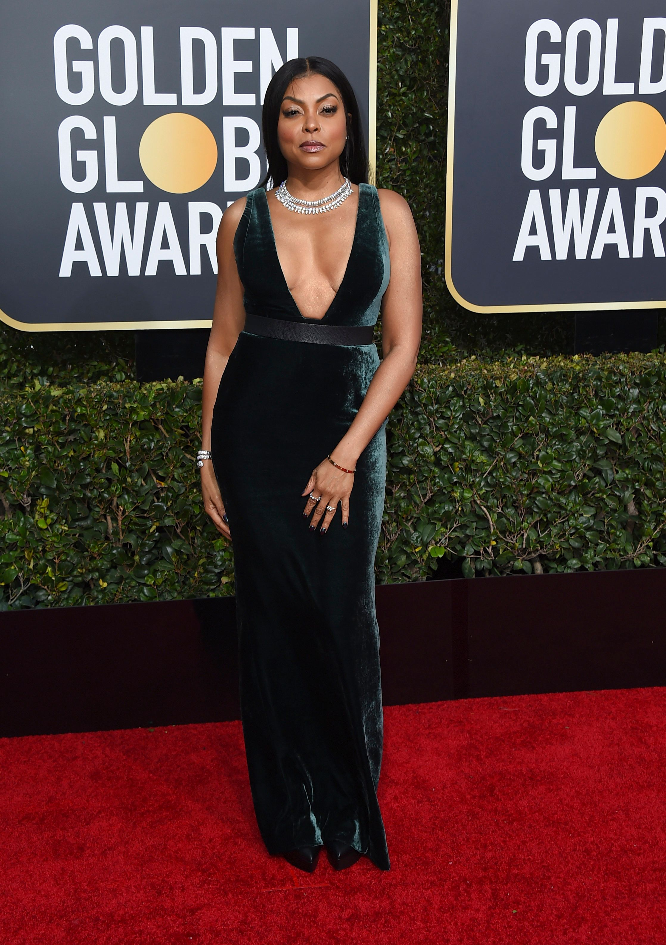 Taraji P. Henson arrives at the 76th annual Golden Globe Awards at the Beverly Hilton Hotel on Sunday, Jan. 6, 2019, in Beverly Hills, Calif. (Photo by Jordan Strauss/Invision/AP)