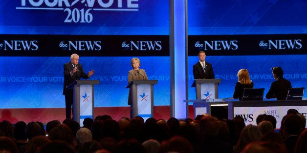 ABC NEWS - 12/19/15 - ABC News coverage of the Democratic Presidential debate from St. Anselm College in Manchester, NH, airi