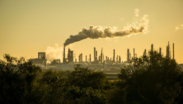 An oilrefinery in Corpus Christi, Texas.