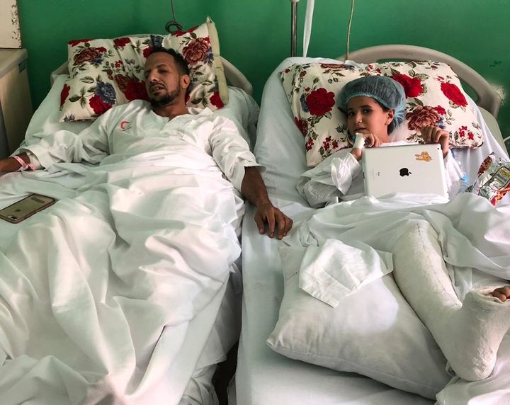 While driving with his now 8-year-old daughter on a visit to Cairo in October, Alahiry got into a car accident. He broke his