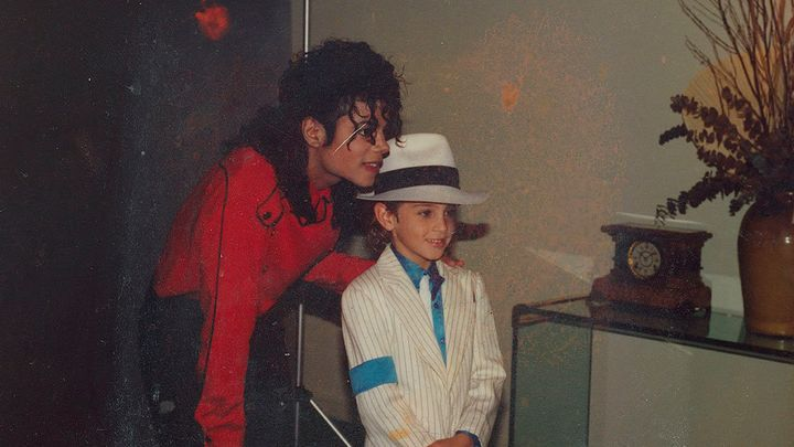 "Jackson and Robson in a still from ""Leaving Neverland."""