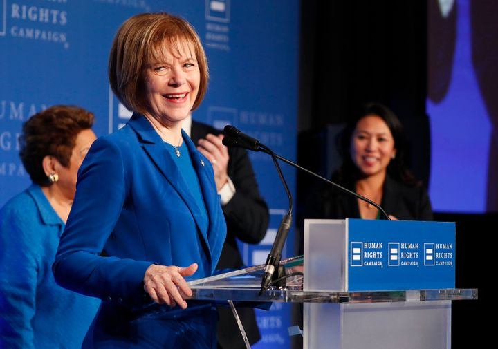 Sen. Tina Smith (D-Minn.) has introduced legislation aiming to reimburse federal contract workers for lost wages due to the p