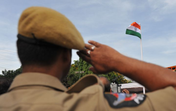 Representative image of an Indian police officer.
