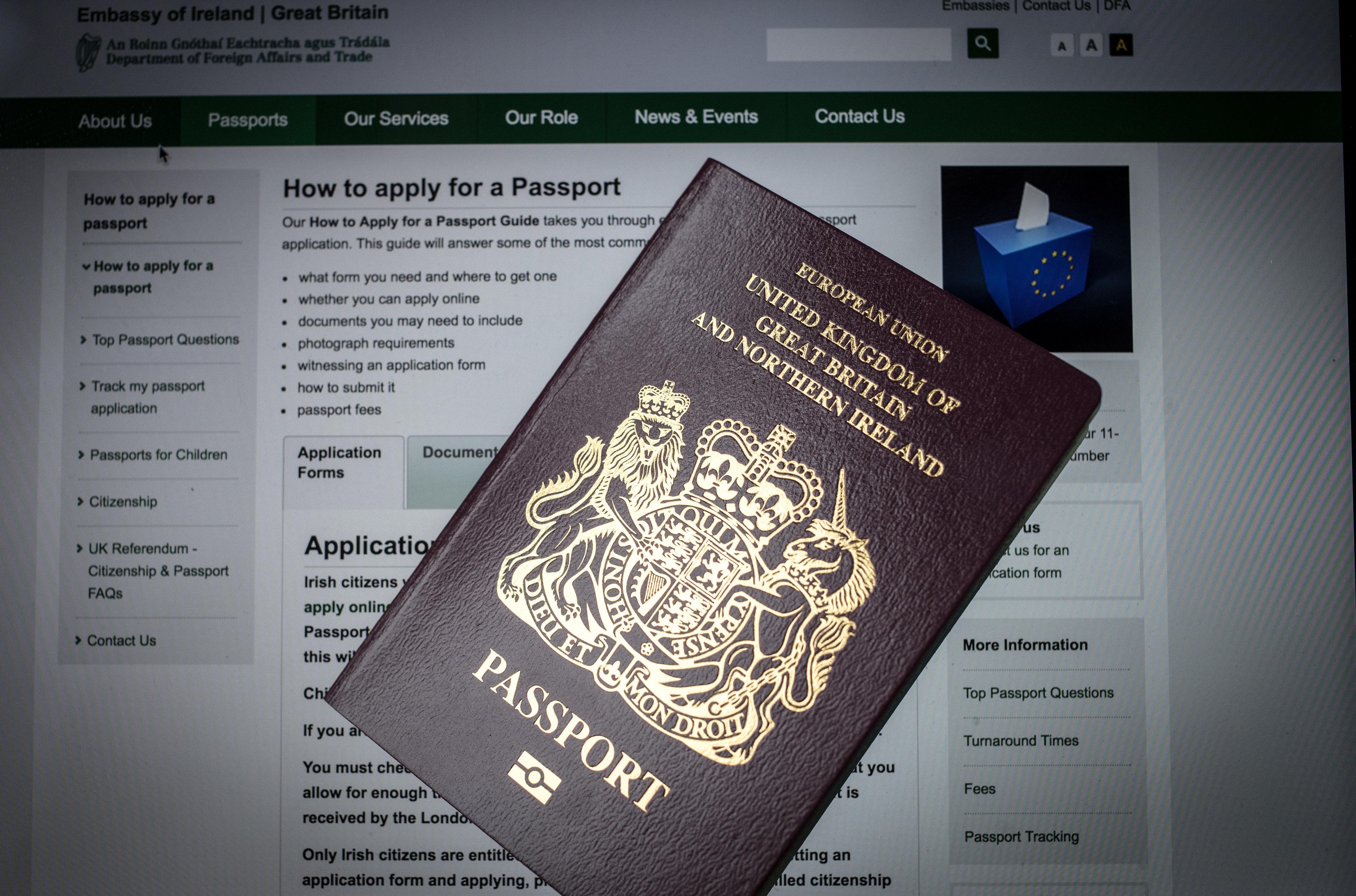 브렉시트 효과 : 북아일랜드에서 아일랜드 여권 신청이 급증하고
