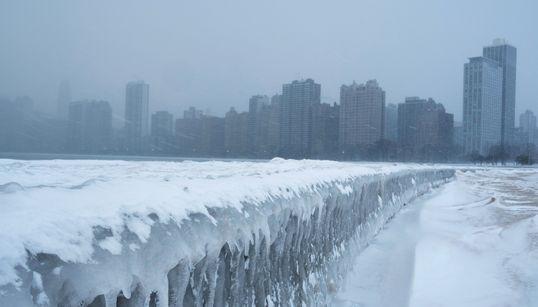 미국 시카고가 북극 보다 더 추워질