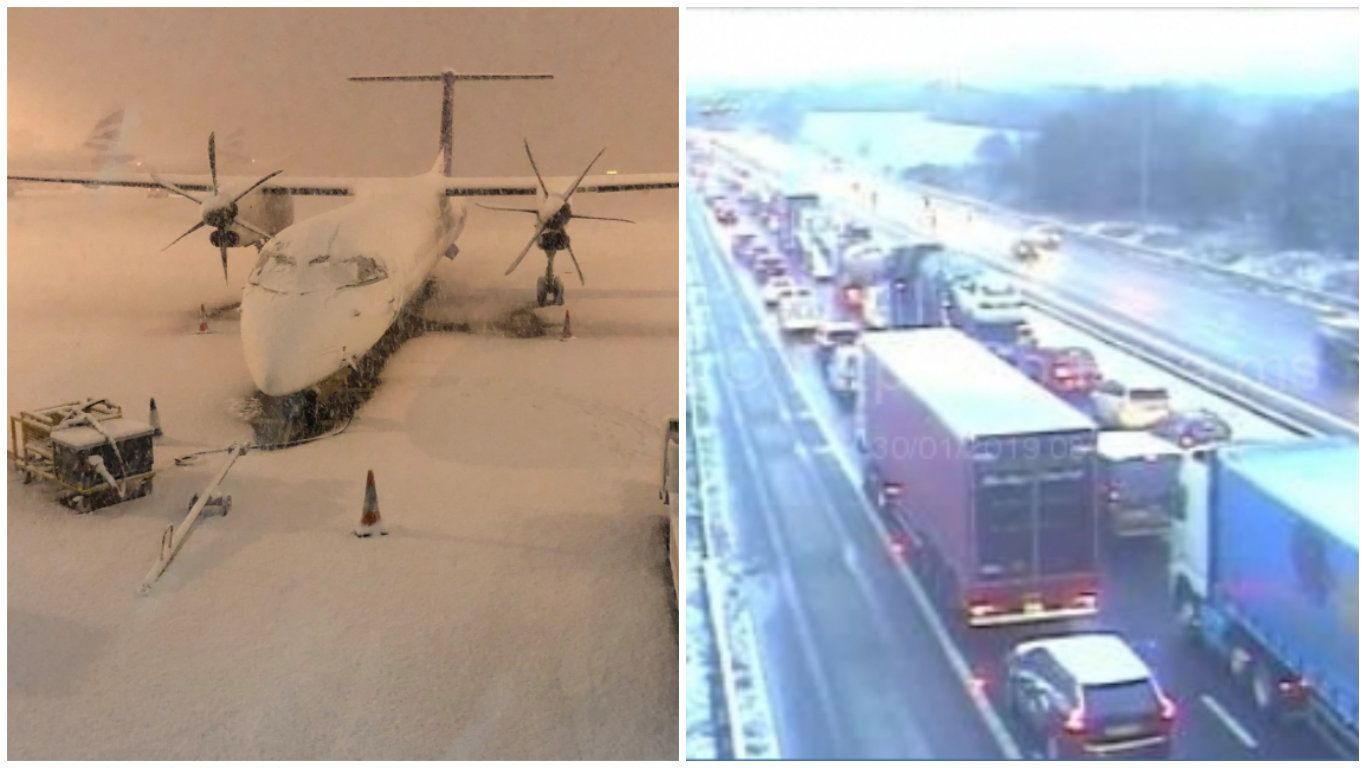 Snow Is Bringing Travel Chaos Across The UK... But The Worst May Be Yet To