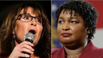 Sarah Palin, Stacey Abrams