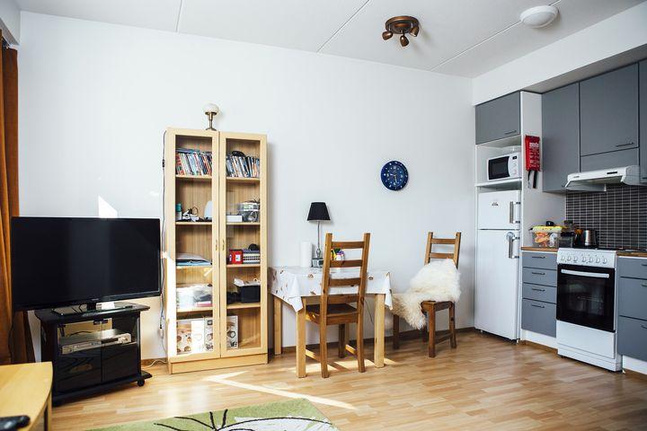 Inside one of the apartments atVäinölä.
