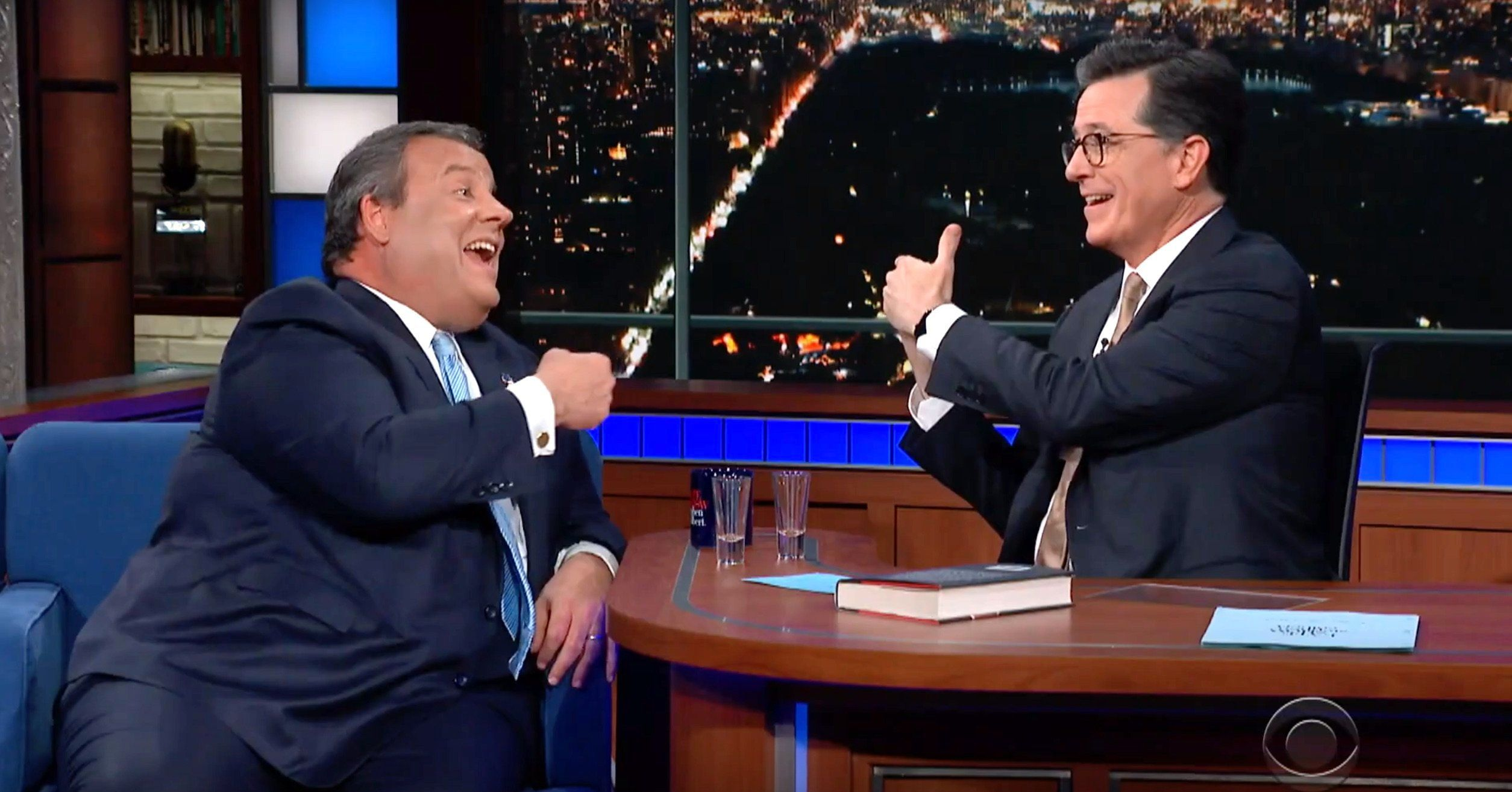 Stephen Colbert, Chris Christie
