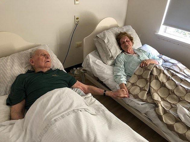 Francis Ernest Platell, 92, und Norma June Platell, 90, und sind nur wenige Minuten nacheinander