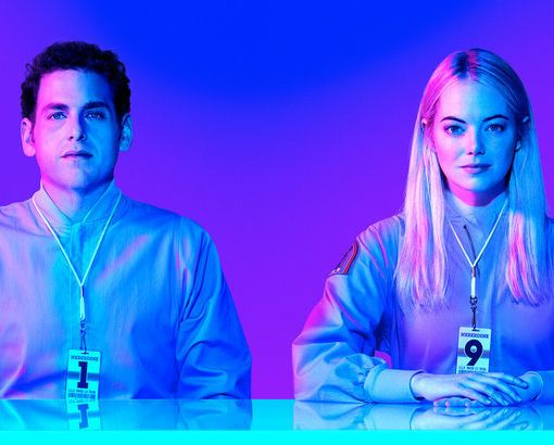 Jonah Hill and Emma Stone in 'Maniac'.