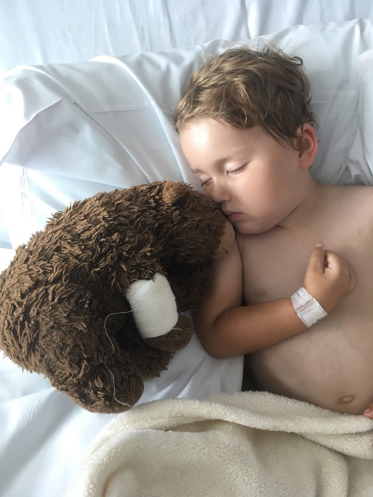 Boy With Terminal Illness Reunited With Lost Bear Thanks To Incredible Effort From