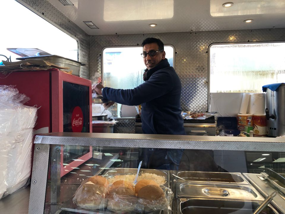 Sachin Singh runs a food truck in Wolverhampton, and says he is still concerned about