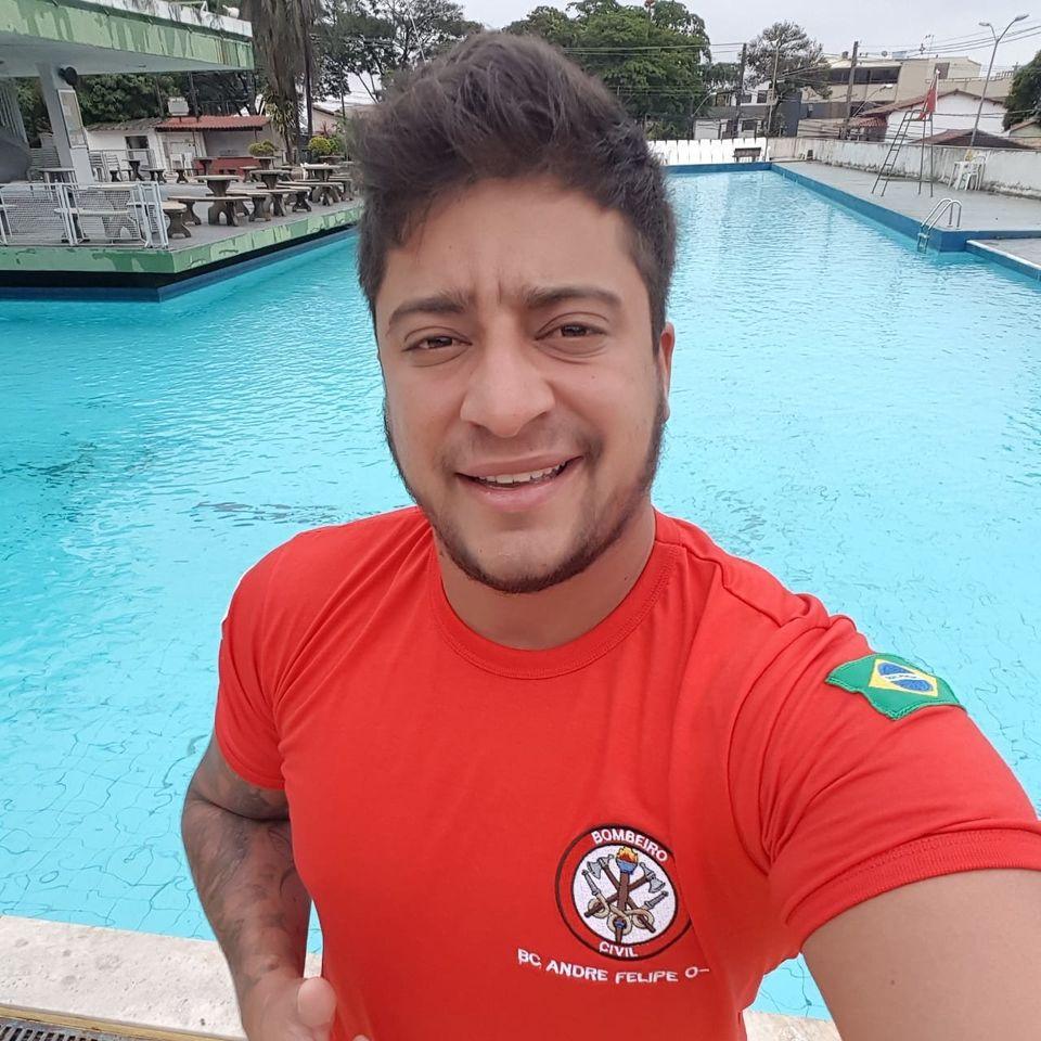 O bombeiro civil e técnico em segurança do trabalho André Filipe Melo, 34 anos,...