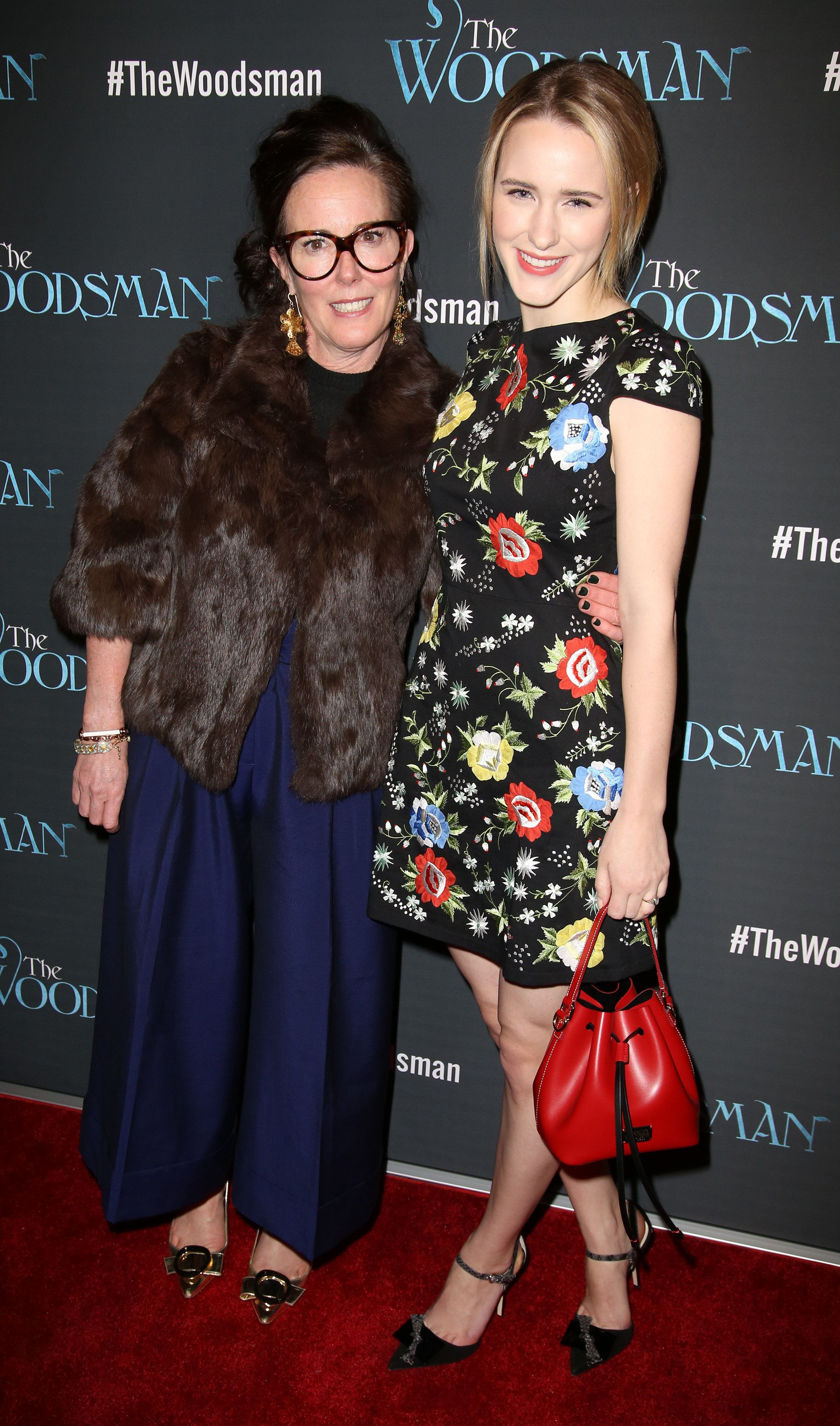 Kate Spade and Rachel Brosnahan pictured together at a movie premiere in 2014.