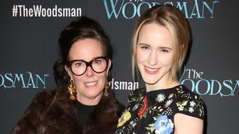 NEW YORK, NY - FEBRUARY 08:  Kate Spade and Rachel Brosnahan attend the Off-Broadway Opening Night Performance of 'The Woodsman' at The New World Stages on February 8, 2016 in New York City.  (Photo by Walter McBride/Getty Images)