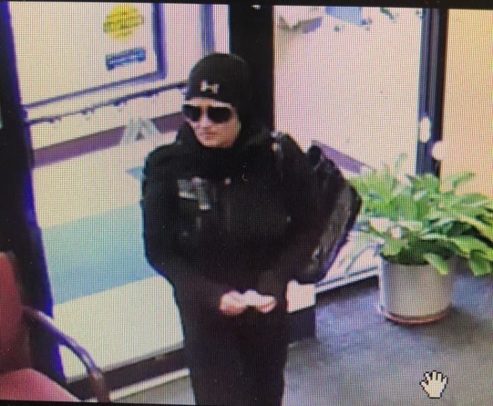 Police in Massachusetts are looking for a woman they say intended to rob a bank but got cold feet and left without a penny.