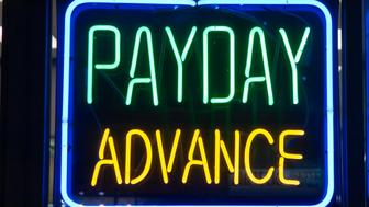 Payday Advance Check Cashing Neon Sign