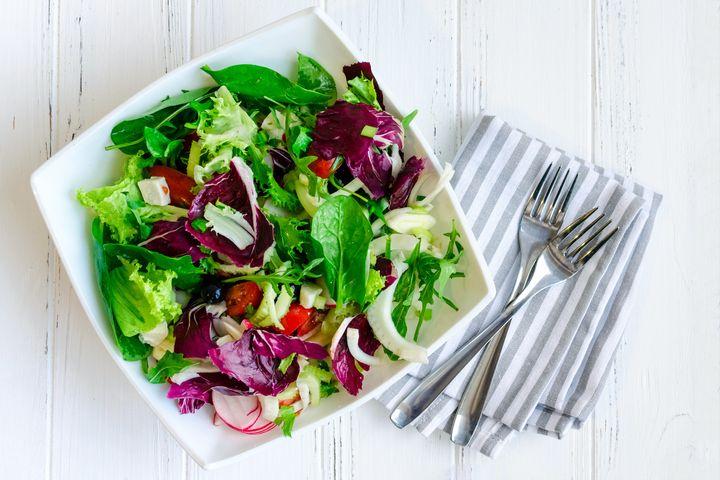 Consumo de verduras aumenta a concentração de vitaminas no organismo.
