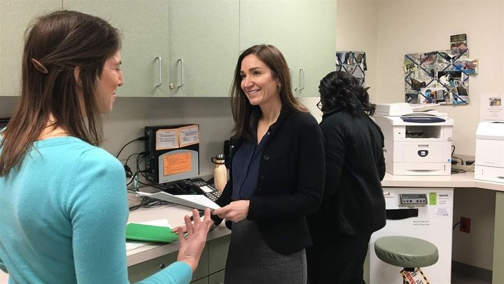 Dr. Constance Guille (right) and Dr. Lisa Boyars, behavioral health physicians at the Medical University of South Carolina, a