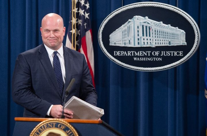 The Justice Department, currently overseen by acting Attorney General Matthew Whitaker (above), reversed its positi