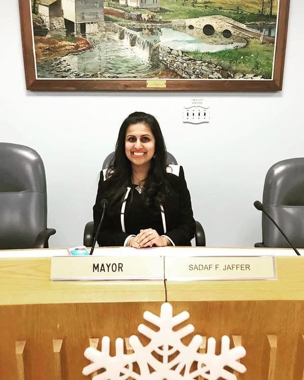 Sadaf Jaffer, a Muslim American woman of Pakistani heritage, is the mayor of Montgomery Township.