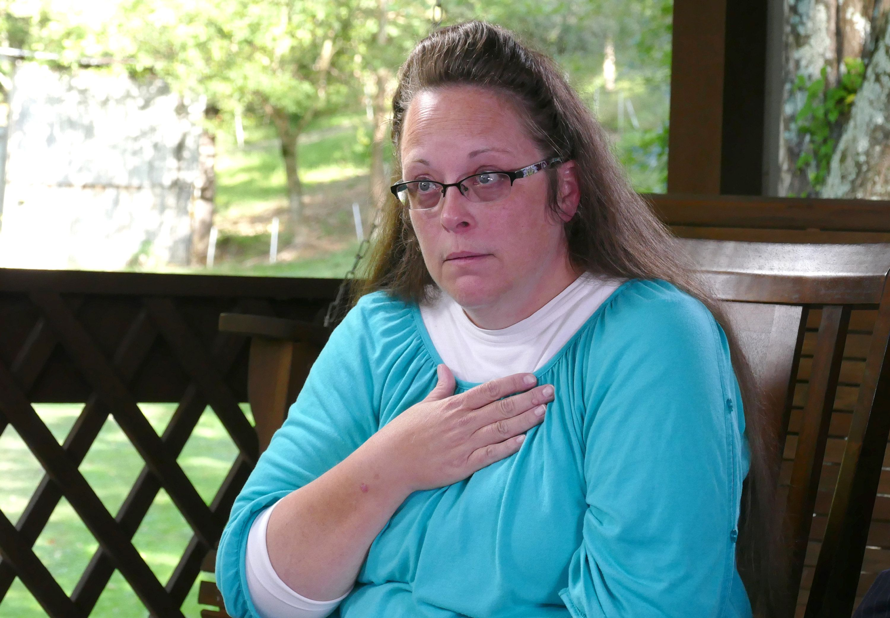 Kim Davis, a former Kentucky county clerk, refused to issue marriage licenses to same-sex couples after the Supreme Court's 2