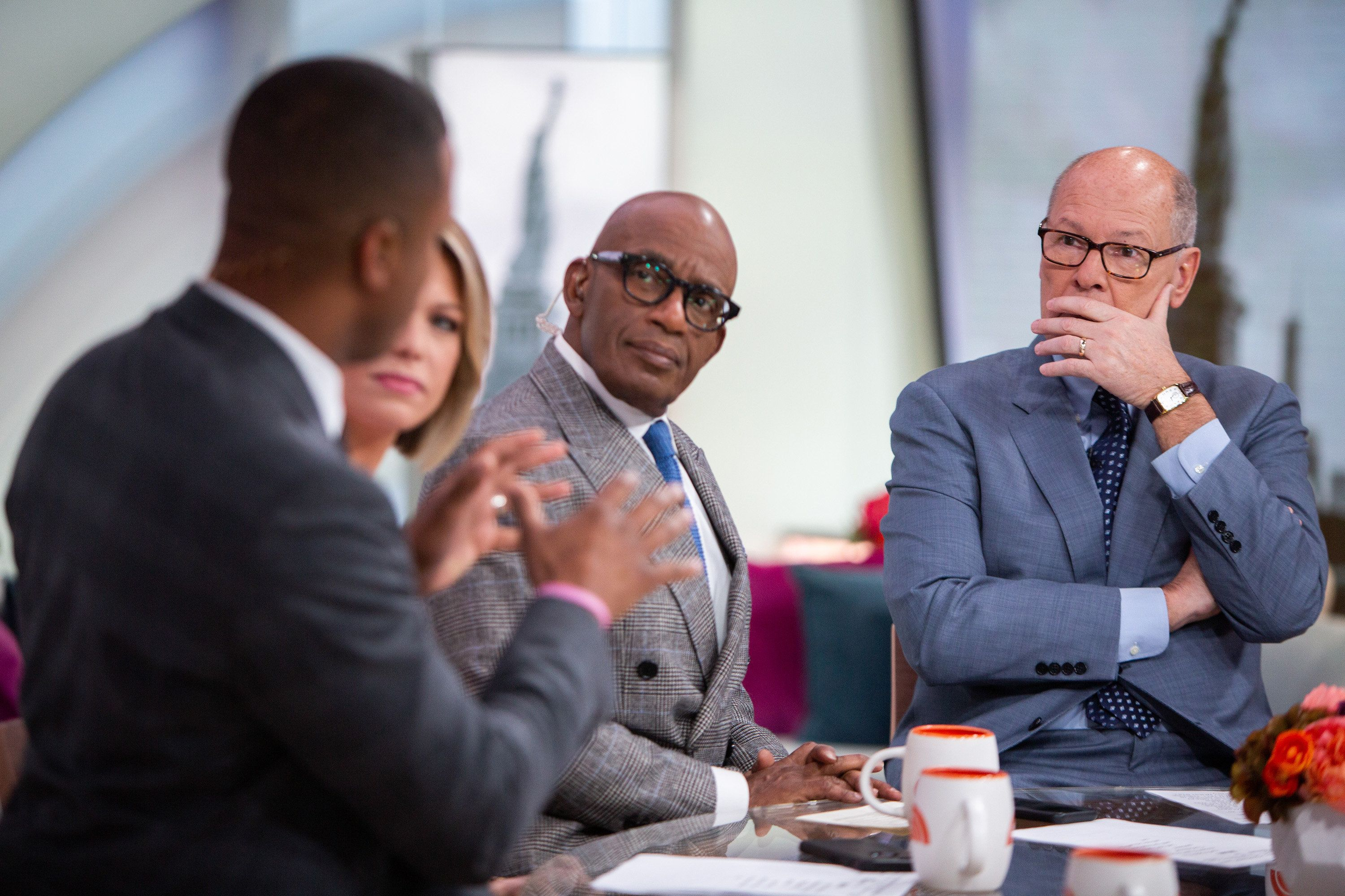 TODAY -- Pictured: Craig Melvin, Dylan Dreyer, Al Roker and Harry Smith on Thursday, January 10, 2019 -- (Photo by: Nathan Congleton/NBC/NBCU Photo Bank via Getty Images)