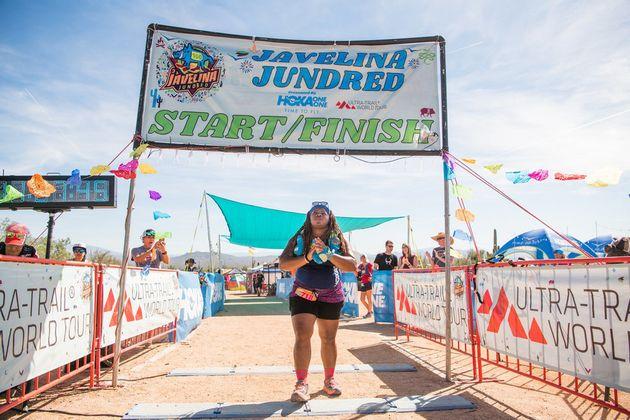 2018년 자벨리나 전드레드 행사에 참가해 처음으로 100킬로미터를 뛰었을 때의