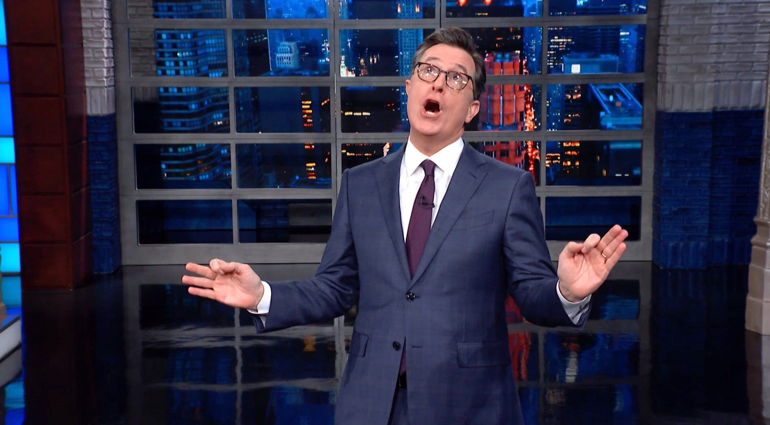 Colbert Taunts Trump With A Scathing New Rhyme About His Intel