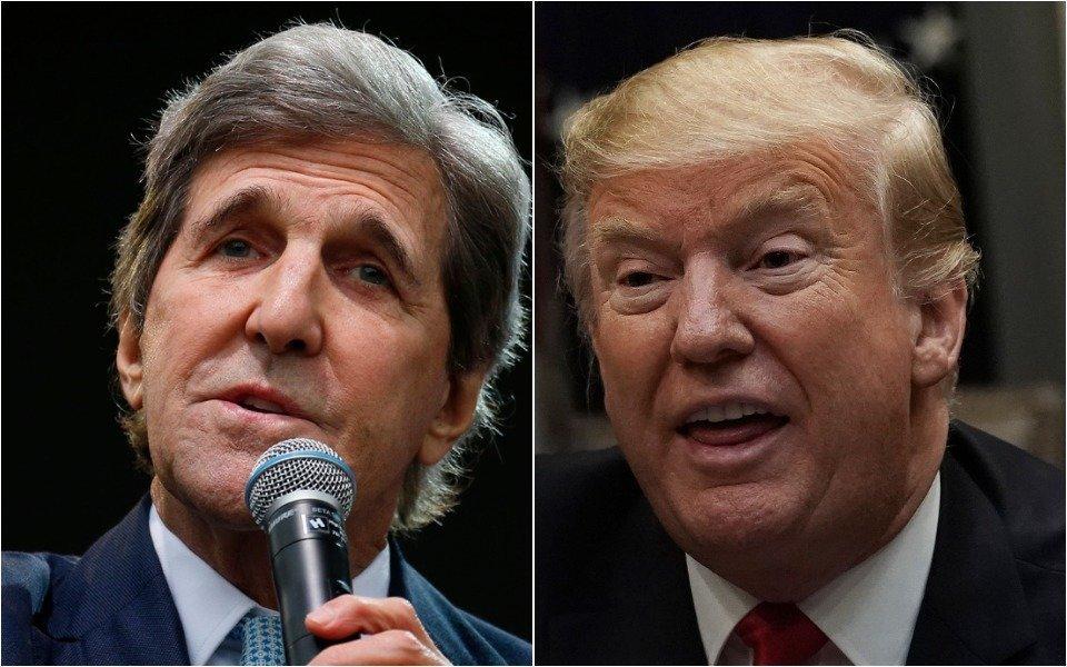 John Kerry and Donald Trump
