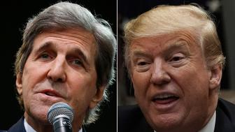 John Kerry and Donald Trump